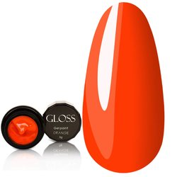 Гель-краска Gloss - оранжевая, 3 мл
