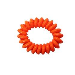 Резинка завиток маленькая глянцевая - оранжевая
