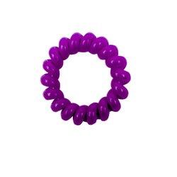 Резинка завиток маленькая глянцевая - фиолетовая