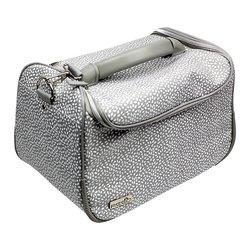 Сумка (чемодан) для мастера - серый в лепесточки (8114)