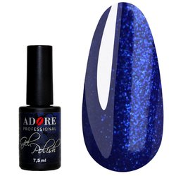 Гель-лак ADORE №332 - синий индиго с микроблеском, 7,5 мл