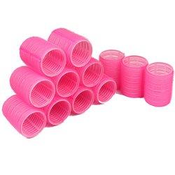 Бигуди липучки YRE 44 мм - ярко - розовый, 12 шт