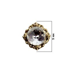 Декор для ногтей - страз кристалл в оправе, 1 шт