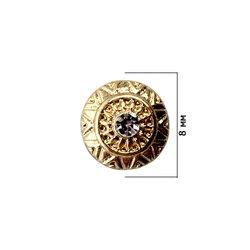 Декор для ногтей - кулон со стразом, золото, 1 шт