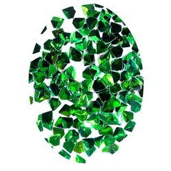 Декор в упаковке объемный треугольник, зеленый