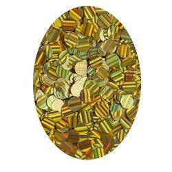 Декор кружочки в баночке золото голографик