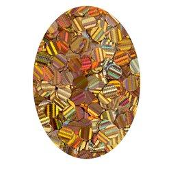 Декор кружочки в баночке бежевое золото голографик
