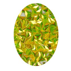 Декор в баночке объемный треугольник, желтый перламутр