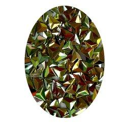 Декор в баночке объемный треугольник, оливковый перламутр