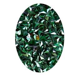Декор в баночке объемный треугольник, зеленый перламутр