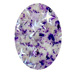 Декор в баночке YRE объемная звезда, бело-фиолетовый перламутр