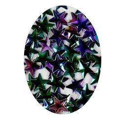 Декор в баночке YRE объемная звезда, фиолетово-зеленый