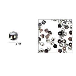 Жемчуг в баночке Nail World №17 темно-серебристый перламутр