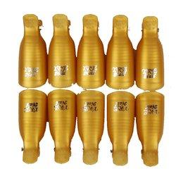 Напальчник многоразовый YRE прищепка в упаковке - золото, 10 шт