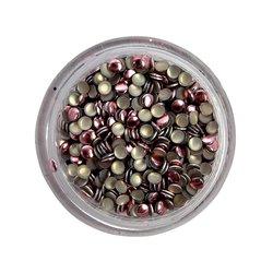 Заклепки металлические для ногтей в баночке - розовые (круг)