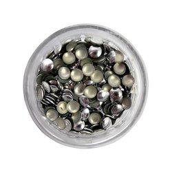 Заклепки металлические для ногтей в баночке - серебро большие