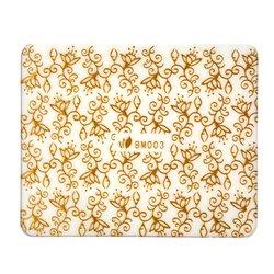 Наклейка Nail World 3D золото ВМ-003