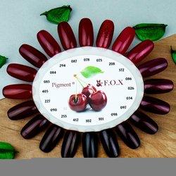 Палитра цветов (палитра гель лаков) F.O.X - бордовые оттенки