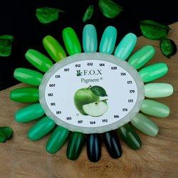 Палитра цветов (палитра гель лаков) F.O.X - зеленые оттенки
