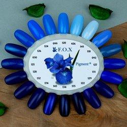 Палитра цветов (палитра гель лаков) F.O.X - синие оттенки