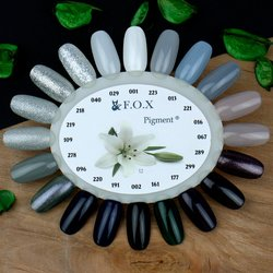 Палитра цветов (палитра гель лаков) F.O.X -  серо-черные, сливовые оттенки