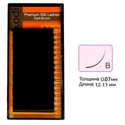 Ресницы Kodi темно-коричневые изгиб B 0.07 16 рядов: 12-13 мм (20033118)