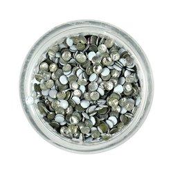 Заклепки металлические для ногтей в баночке - белые (круг)