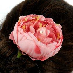 Заколка, роза бутон большой,10 см  - светло-розовый, 1 шт