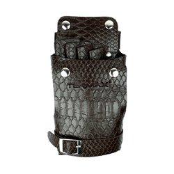 Пояс мастера U.S.A коричневый лак под кожу крокодила 5 карманов