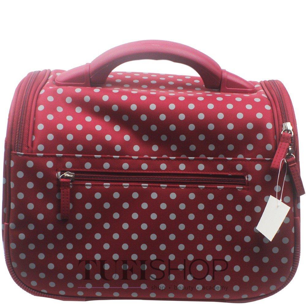 Сумка (валіза) для майстра - малиновий в сірий горох- купити в Києві ... f56f5aa662218