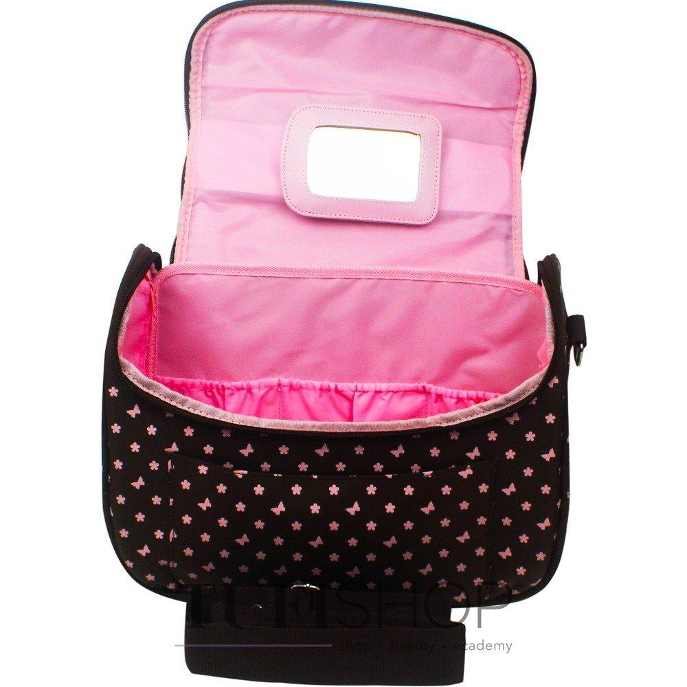 ... Сумка (чемодан) для мастера - коричневый в розовые цветы и бабочки ... 538382200a038