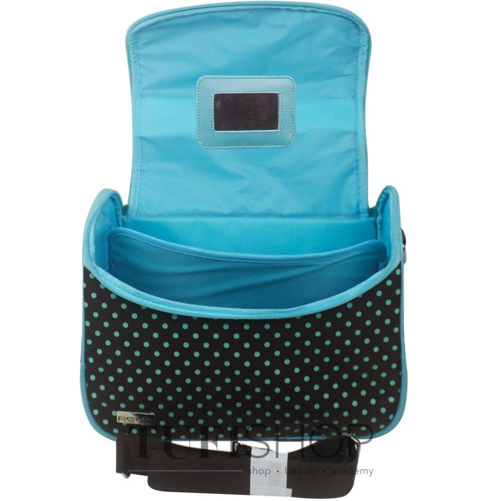 ... Сумка (чемодан) для мастера - коричневый в голубой горох с бантом ... f851af01416dd