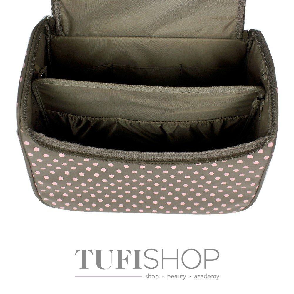 ... Сумка (чемодан) для мастера - оливковый в розовый горох (7844) dca544b6a0122