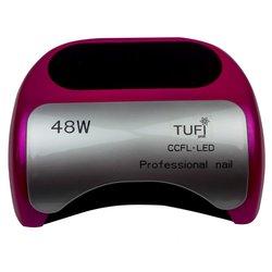 УЦЕНКА! LED+CCFL лампа Tufi Profi 48 Вт с козырьком, темно-розовый