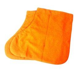 Носочки для парафинотератиии махровые хлопковые, оранжевый